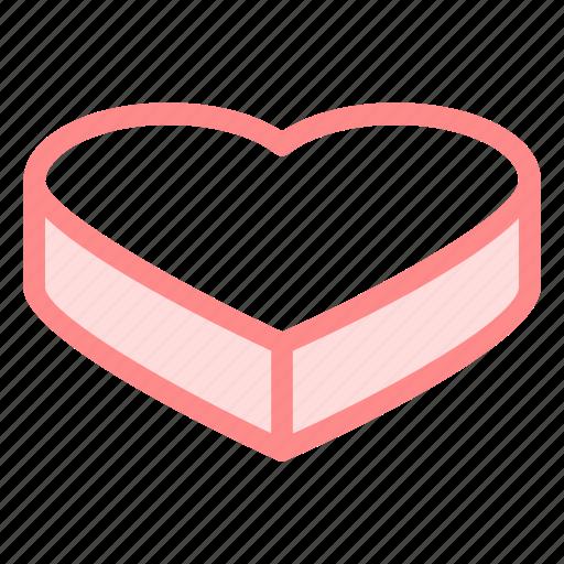 cake, heart, love, romance, wedding icon