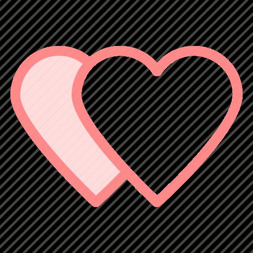 hearts, love, romance, wdding icon