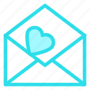 letter, love, open, romance, wedding icon