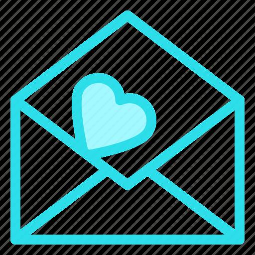 letter, love, open, romance, wedding icon