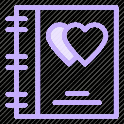 book, love, phone, wedding icon