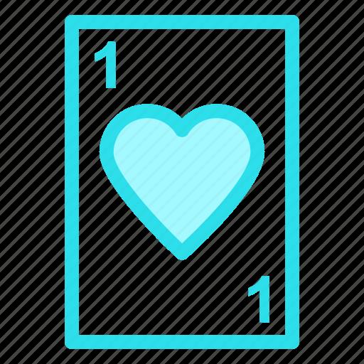 card, heart, love, poker icon