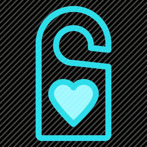door, hanger, love, tag icon