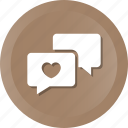 chat, comment, hearts, love, message, valentine icon