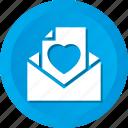 envelope, letter, love, romantic icon