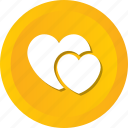 hearts, love, loving, romance, valentine, wedding icon