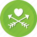 arrows, cupid, heart, love, loving, romantic icon