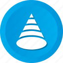 birthday, cap, cone icon