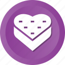 box, gift, heart, love, present, romantic icon