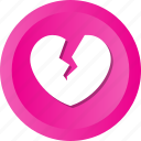break, breakup, dumped, heart, heartbreaker, heartbroken, love icon