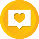 bubble, chat, comment, hearts, love, message, valentine icon