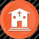 building, christian, church, religious icon