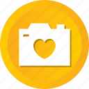 camera, heart, image, love, photo, photography, wedding icon