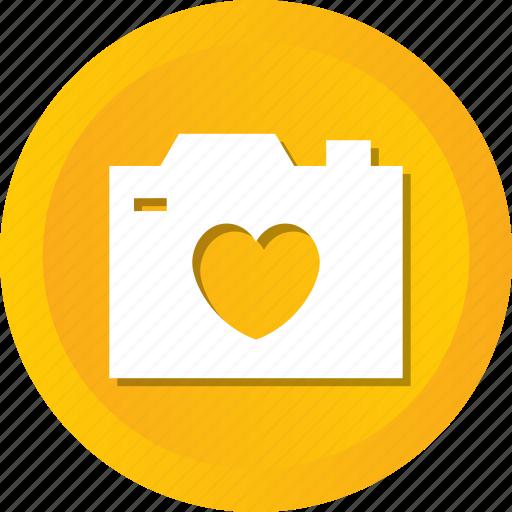 camera, heart, image, love, photo, photography, wedding icon