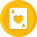 card, casino, hearts, love, playing, poker, xard icon