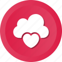 cloud, dating, heart, icloud, love, online icon