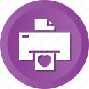 device, electronic, fax, hear, letter, love, print icon
