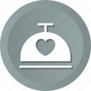 dish, food, heart, love, restaurant icon