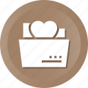 document, file, folder, heart, love, loving, romance icon