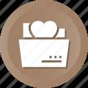 document, file, folder, heart, love, loving, romance icon
