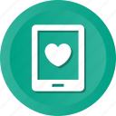 favorite, handphone, heart, love, loving, smart icon