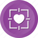 favorite, heart, love, romantic, target icon