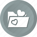 file, folder, heart, like, love, loving, marriage icon