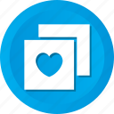 card, heart, love, valentine icon