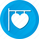 board, hanging, love, romance, sign icon