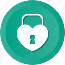 heart, key, lock, love, loving, romance, wedding icon