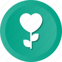 heart, leaf, love, nature, plant, romance, tree icon