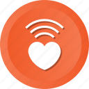 internet, love, radio, valentine, wifi, wireless icon