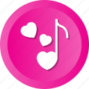 love, music, note, sing icon