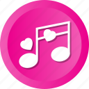 love, note, sing icon