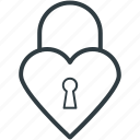 heart shaped, love secret, padlock, privacy, secret feelings icon