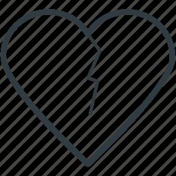 breakup, broken heart, divorce, flirting, heartbreak icon