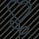 heart flowers, love, love concept, passion, romantic icon