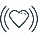 affection, feelings, heartbeat, in love, love, rhythm icon