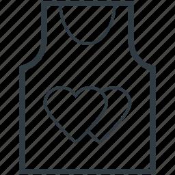 hearts sign, love, romantic, shirt, valentine day icon