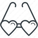 heart glasses, love, love theme, passion, style icon