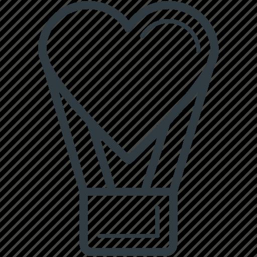affection, fun, heart shaped balloon, hot air balloon, love theme icon