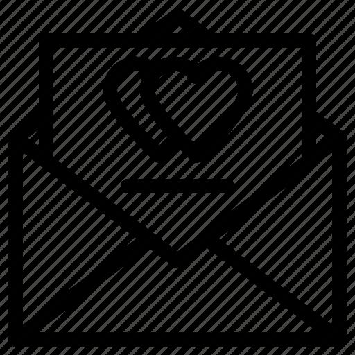 correspondence, feelings, heart sign, letter, love communication, romantic icon