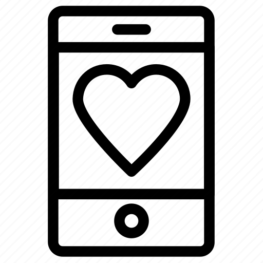 heart sign, love sign, love symbol, mobile screen icon