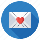 emotions, love communication, love correspondence, love letter, love message icon