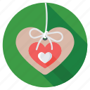 decoration, gift decoration, greetings, heart emblem, heart shape icon