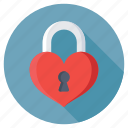 feelings, heart padlock, love secret, privacy, romantic icon
