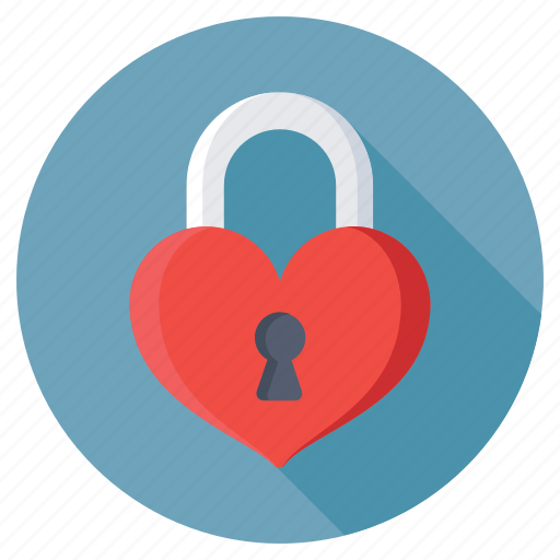 feelings, heart padlock, love secret, privacy, romantic icon