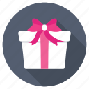 anniversary gift, birthday present, giftbox, party, present icon