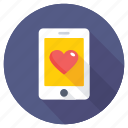 heart mobile screen, heart on screen, love message, love sign, screen heart icon