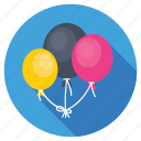 balloons, birthday balloons, celebration, decoration, party balloons icon